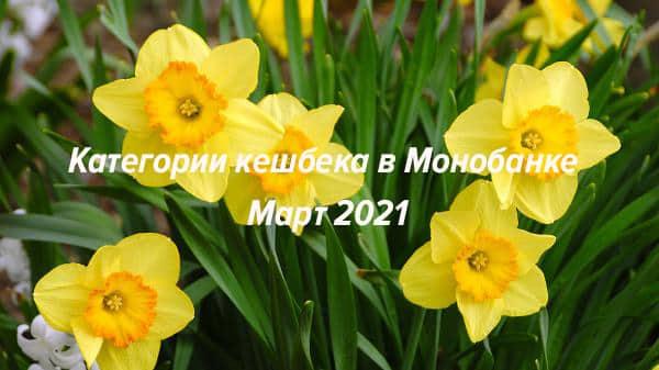 Категории кешбека в Монобанк на март 2021